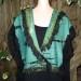 14sw-Aqua-cashmere-knit-shibori-shawl-with-organza-ruffles SOLD thumbnail