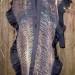 25SC Bronze & Black silk organza shibori shawl w/ silk organza ruffles thumbnail