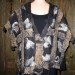 #33sw Bronze and black shibori grid nuno felted shawl with silk fiber  thumbnail