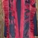 5SC Red & black organza shibori scarf w/ silk mesh band & silk organza ruffle thumbnail