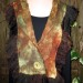 #5sw Bronze copper celedon nuno neck wrap with organza ruffle can be worn 2 ways as seen in #6  thumbnail