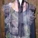 7SC muti colour w/ black organza shibori scarf w/ silk organza shibori ruffle SOLD thumbnail
