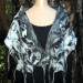001 Luxury Fiber Blend Felted Wrap with hand woven silk fabric from India thumbnail