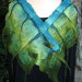 030 Front Teal to Olive Ombre nuno grid wrap thumbnail