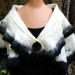 058 Black and white luxury fiber blend felted wrap thumbnail