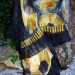 076 Gold/Black/Ivory shibori Pieced Shawl thumbnail